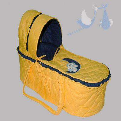 Korpa nosiljka Na mesecu - žuto/teget