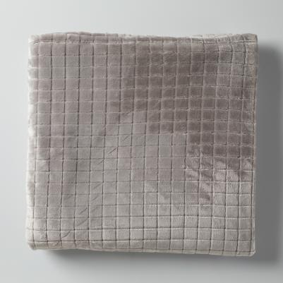 Ćebe - karo sivo
