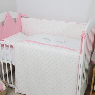 Bebi posteljina Krunica - sa ogradicom