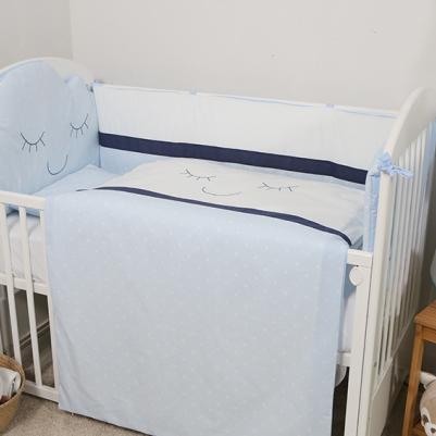 Bebi posteljina Oblak - sa ogradicom