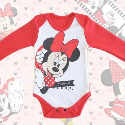 Bodi dug rukav Minnie Mouse