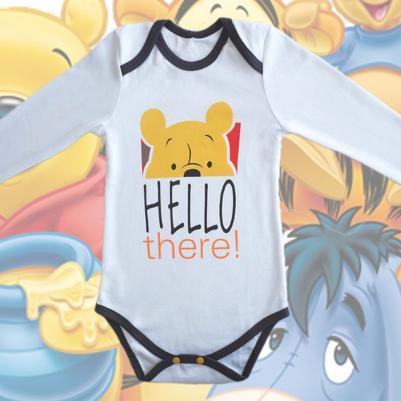 Bodi dug rukav Winnie the pooh