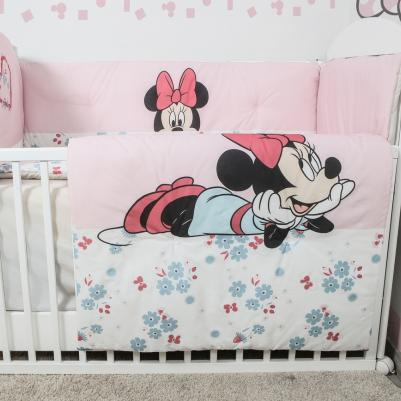 Bebi posteljina Minnie Mouse - sa ogradicom