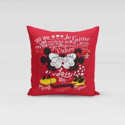 Ukrasni jastučić Minnie&Mickey love