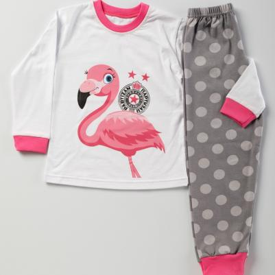 Pidžama Partizan - flamingo
