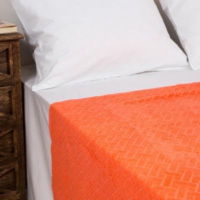 Pokrivač frotir - narandžasti