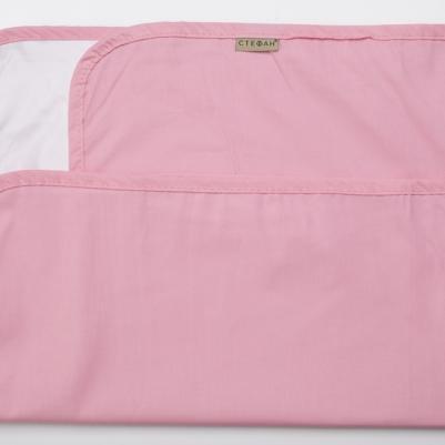 Nepromočivi čaršaf za krevetac - roze