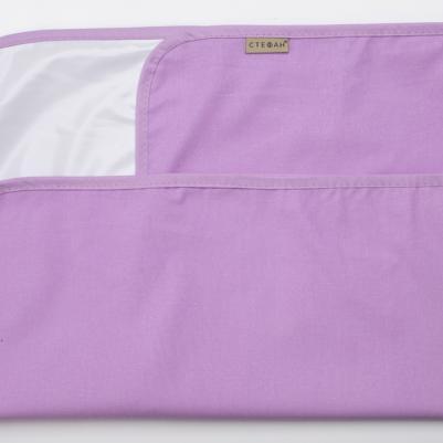 Nepromočivi čaršaf za krevetac - t. lila