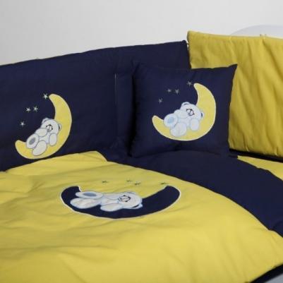 Bebi posteljina Na mesecu - sa ogradicom