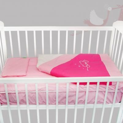 Bebi posteljina Na mesecu - sa rajsferšlusom