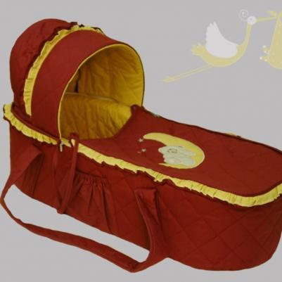 Korpa nosiljka Na mesecu - bordo/žuta