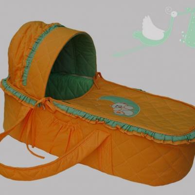 Korpa nosiljka Na mesecu - narandžasto/zelena