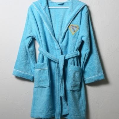 Bademantil za decu - plava