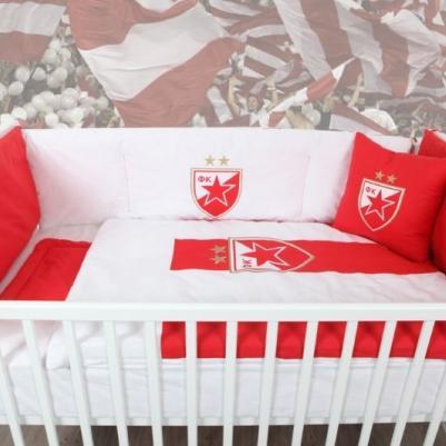 Bebi posteljina Crvena zvezda - sa ogradicom