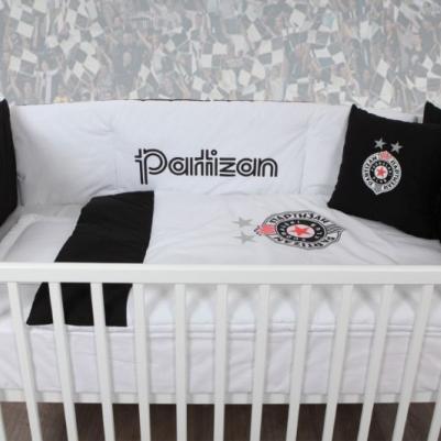 Bebi posteljina Partizan - sa ogradicom