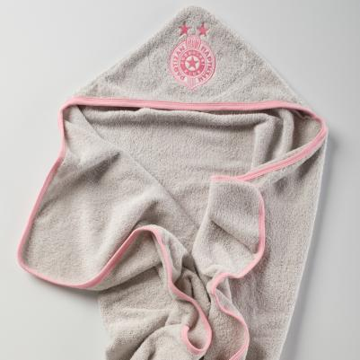 Bebi peškir sa kapuljačom Partizan - roze