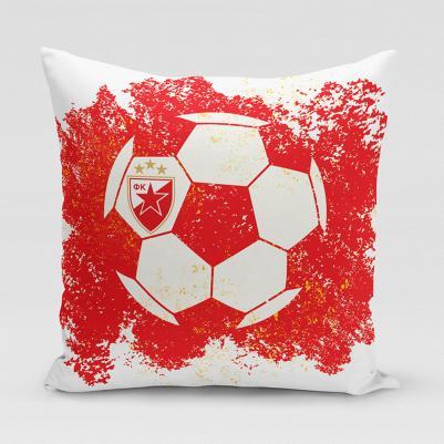 Ukrasni jastučić Crvena zvezda - lopta