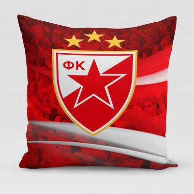 Ukrasni jastučić Crvena zvezda - navijači