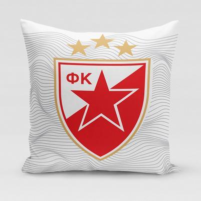 Ukrasni jastučić Crvena zvezda - talas