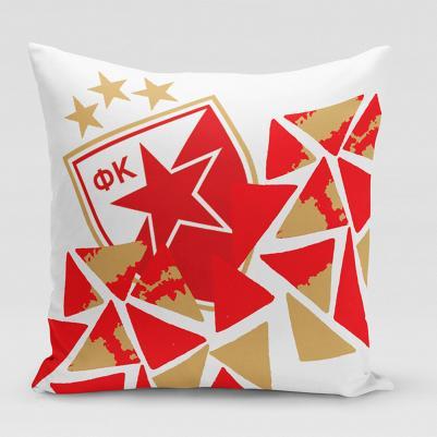 Ukrasni jastučić Crvena zvezda - troglići