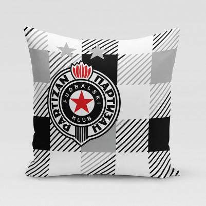 Ukrsni jastučić Partizan - karo