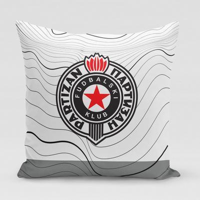Ukrasni jastučić Partizan - talas
